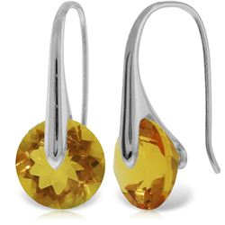 11.50 ctw Citrine Earrings Jewelry 14KT White Gold