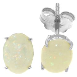 0.90 ctw Opal Earrings Jewelry 14KT White Gold