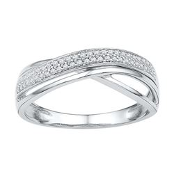 0.02CT Diamond Anniversary 10KT Ring White Gold