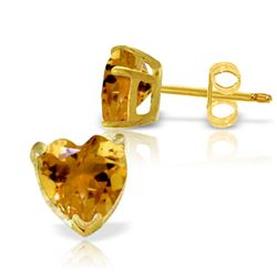 3.25 ctw Citrine Earrings Jewelry 14KT Yellow Gold
