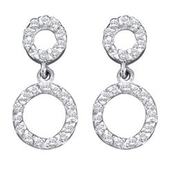 0.25CT Diamond Circle 10KT Earrings White Gold
