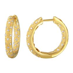 Genuine 0.46 TCW 14K Yellow Gold Ladies Earring - REF-81R6H