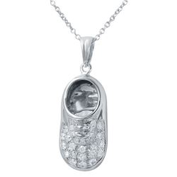 Genuine 0.24 TCW 14K White Gold Ladies Necklace - REF-55Y4Z