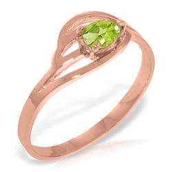 0.30 CTW Peridot Ring Jewelry 14KT Rose Gold