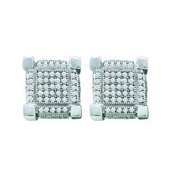 0.25CT Diamond Micro-Pave 10KT Earrings White Gold
