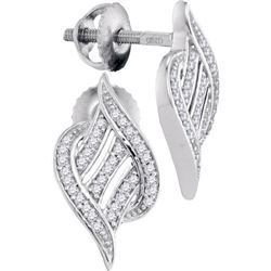 0.15CT Diamond Micro-Pave 10KT Earrings White Gold