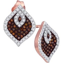 0.35CT Diamond Micro-Pave 10KT Earrings Rose Gold