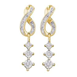 0.15CT Diamond Anniversary 10KT Earrings Yellow Gold
