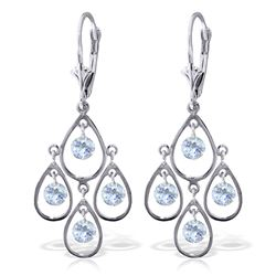 2.4 ctw Aquamarine Earrings Jewelry 14KT White Gold