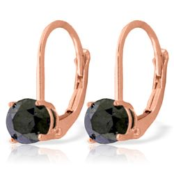 1.0 ctw Black Diamond Earrings Jewelry 14KT Rose Gold