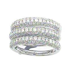 Genuine 14K White Gold 2.29CTW Diamond Band Ring - REF-247W9G
