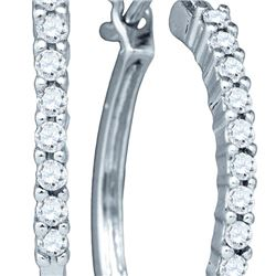 0.25CT Diamond Anniversary 14KT Earrings White Gold