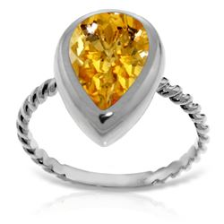 2.5 ctw Citrine Ring Jewelry 14KT White Gold