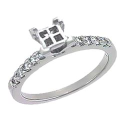 Platinum 0.34CTW Diamond Semi Mount Ring - REF-102Z7T