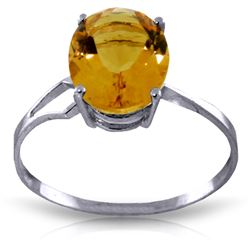 2.2 ctw Citrine Ring Jewelry 14KT White Gold
