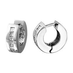 Genuine 0.96 TCW 14K White Gold Ladies Earring - REF-124K9R