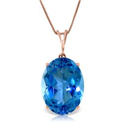 8 ctw Blue Topaz Necklace Jewelry 14KT Rose Gold