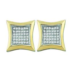 0.20CT Diamond Micro-Pave 10KT Earrings Yellow Gold