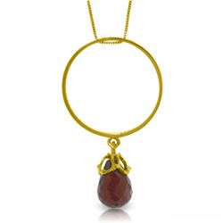 3 ctw Garnet Necklace Jewelry 14KT Yellow Gold
