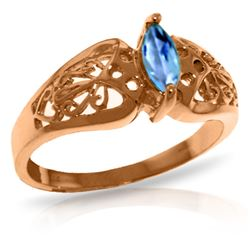 0.20 CTW Blue Topaz Ring Jewelry 14KT Rose Gold