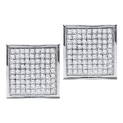 0.05CT Diamond Micro-Pave 10KT Earrings White Gold