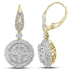 2.0CT Diamond Anniversary 14KT Earrings Yellow Gold