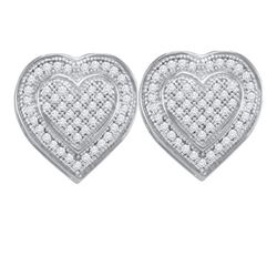 0.25CT Diamond Heart 10KT Earrings White Gold