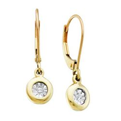 0.05CT Diamond Anniversary 10KT Earrings Yellow Gold