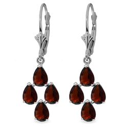 4.5 ctw Garnet Earrings Jewelry 14KT White Gold