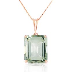 6.5 ctw Green Amethyst Necklace Jewelry 14KT Rose Gold