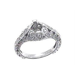 Platinum 0.35CTW Diamond Semi Mount Ring - REF-139G3M