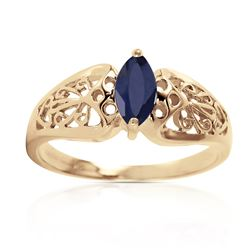 0.20 CTW Sapphire Ring Jewelry 14KT Yellow Gold