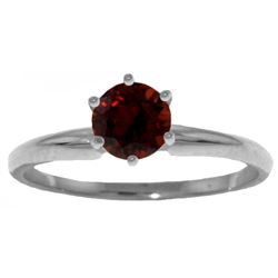 0.65 ctw Garnet Ring Jewelry 14KT White Gold