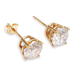 1.0 ctw Diamond Anniversary Earrings Jewelry 14KT Yellow Gold