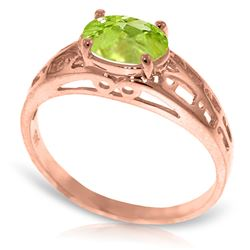 1.15 ctw Peridot Ring Jewelry 14KT Rose Gold