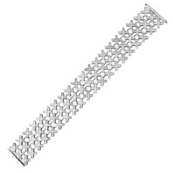 Genuine 8.59 TCW 14K White Gold Ladies Bracelet - REF-665H2W