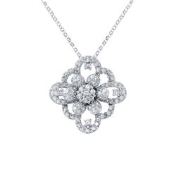Genuine 1.6 TCW 14K White Gold Ladies Necklace - REF-128H4W