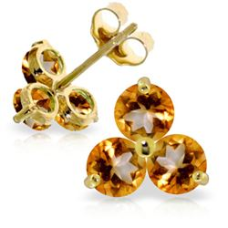 1.50 ctw Citrine Earrings Jewelry 14KT Yellow Gold