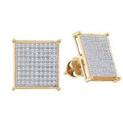 0.15CT Diamond Micro-Pave 10KT Earrings Yellow Gold