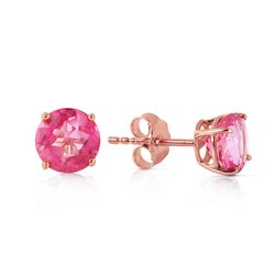 1.30 ctw Pink Topaz Earrings Jewelry 14KT Rose Gold