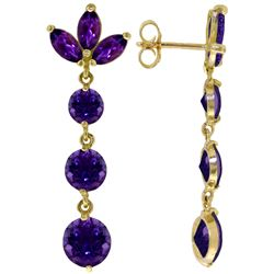 8.7 ctw Amethyst Earrings Jewelry 14KT White Gold