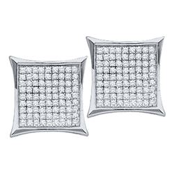 0.50CT Diamond Micro-Pave 14KT Earrings White Gold