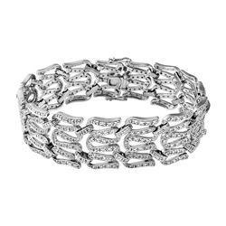 Genuine 2.55 TCW 18K White Gold Ladies Bracelet - REF-502G2M