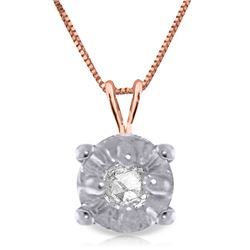 0.03 ctw Diamond Anniversary Necklace Jewelry 14KT Rose Gold