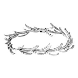 Genuine 3.01 TCW 14K White Gold Ladies Bracelet - REF-233H8W