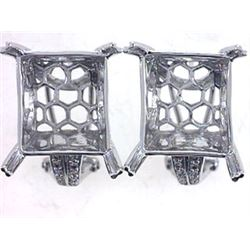 Genuine 14KWhite Gold 0.14CTW Diamond Semi-Mount Earrings - REF-93K3R