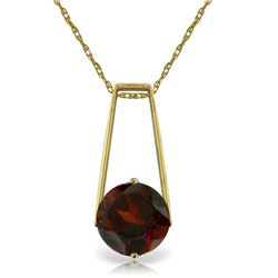 1.45 ctw Garnet Necklace Jewelry 14KT Yellow Gold