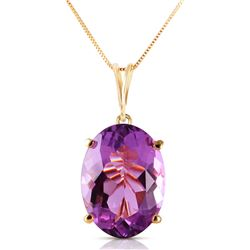 7.55 ctw Amethyst Necklace Jewelry 14KT Yellow Gold