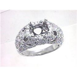 Genuine 18K White Gold 1CTW Diamond Semi Mount Ring - REF-173K2R