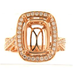 Genuine 14K Rose Gold 1.07CTW Diamond Semi Mount Ring - REF-145K7R
